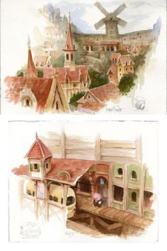 The Dam Keeper, de Dice Tsutsumi e Robert Kondo | THECAB - The Concept Art Blog via PinCG.com