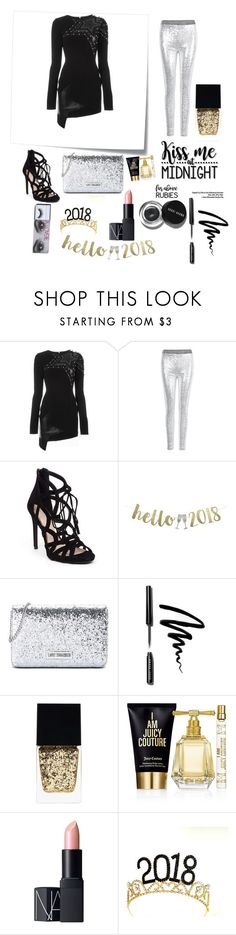 """""""Kiss me at midnight 🕛"""" by peacock-style ❤ liked on Polyvore featuring Post-It, Anthony Vaccarello, Bobbi Brown Cosmetics, WithChic, Jessica Simpson, Cricut, Love Moschino, Witchery, Juicy Couture and NARS Cosmetics"""