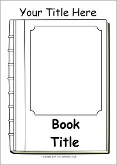 Free Book Cover Template for Kids - Tim\'s Printables | art education ...