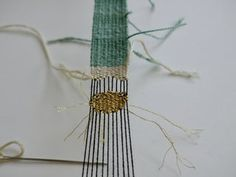 Woven Bracelet : 8 Steps (with Pictures) - Instructables Diy Bracelets Easy, Woven Bracelets, Loom Weaving, Hand Weaving, Types Of Weaving, Daisy Bracelet, Embroidery Needles, Weaving Patterns, Beautiful Textures