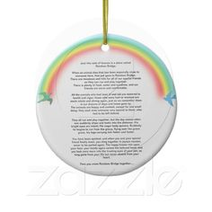 Rainbow bridge pet memorial photo Ornament