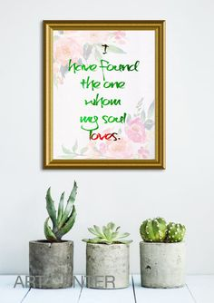 I have found the one whom my soul loves Bible Verse by ArtCenter1