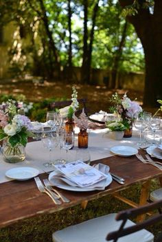 Setting the table..