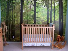 Forest mural     Enchanted Forest Bedroom by veronaberryman, via Flickr