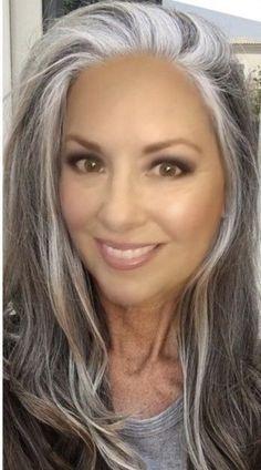 Silver Fox Hair, Silver White Hair, Grey Hair Transformation, Grey Hair Inspiration, Gray Hair Highlights, Gray Hair Growing Out, Long Gray Hair, Hair Affair, Long Hair Styles