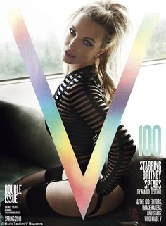 Making an impression: Britney Spears was chosen to front the milestone 100th issue of V Magazine