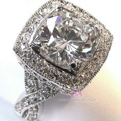 GREAT GIFT!, Masterpiece Ring, Available in size 5, 6, 7, 8, 9. Genuine clear cubic zirconias with an intricate, delicate but bold design. ANTIQUE-LOOK WITHOUT THE ANTIQUE PRICE. See photos for detailing. Excellent Quality! Great GIFT!! Even to yourself! Just mention the size you need after purchase... Please do not wear this in water, WILL SHIP RIGHT AWAY