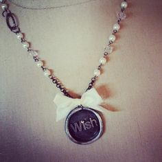 Beautiful Wish wax seal stamp on a pearl and by thehansenfamily, $42.00