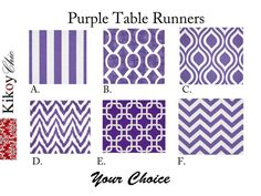 Table RunnerPurple Table Runner.Purple Runner 12 X by KikoyChic, $15.00