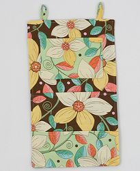 Wall Organizer Tutorial - Years ago I made long wall pocket organizers for my kitchen and sewing room (in more toned down colors) - very helpful!