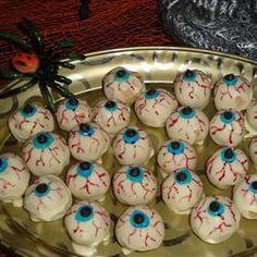 Griezelige ogen (bonbons voor Halloween)