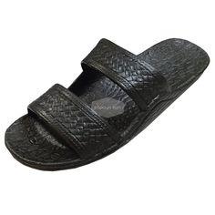 "d3851e626e0c Classic Black ""Hawaiian Jandals"" Pali Hawaii Jesus Sandals"