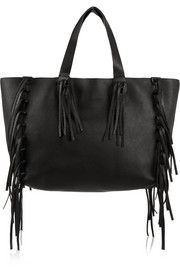 C-Rockee fringed textured-leather tote