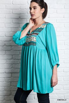 MULTI PATTERNED PEASANT DRESS - CURVY