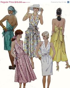 ON SALE 1980s Vintage Sewing Pattern McCalls 4294 by sandritocat, $12.75