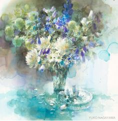 "Photo from album ""Натюр / Yuko Nagayama"" on Yandex. Art Floral, Flower Images, Flower Art, Watercolour Painting, Watercolor Flowers, Let's Make Art, Art Japonais, Japan Art, Art Pictures"