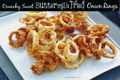 Buttermilk Fried Onion Rings | recipe from Spinach Tiger