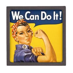 Rosie the Riveter We Can Do It Vintage Premium Keepsake Boxes