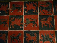 16th century Intarsia coverlet from Dahlems Church, Smaland,  in the Stockholm museum of National Antiquities. Wouldn't you love to have this on your bed?