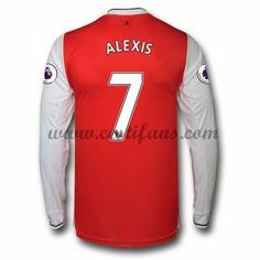 cb693ed6a4f95 Arsenal Fotbalové Dresy 2016-17 Alexis 7 Domáci Dres Dlouhým Rukávem  Arsenal Football Shirt,