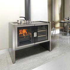 Firebelly Razen Wood Burning Stove Cookstove, a modern take on the aga classic