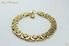 Gianna - #Golden  #Stainless #Steel #Horseshoe Links by #LoveChristines #love #fashion #jewelry #trends #bracelet #Etsy,