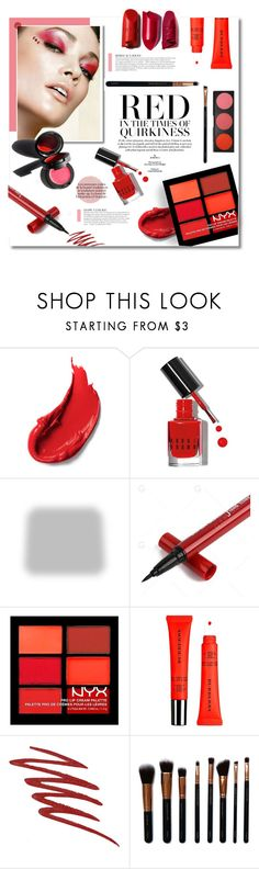 """Red Makeup"" by idonthavebrains ❤ liked on Polyvore featuring beauty, Bobbi Brown Cosmetics, Shabby Chic, NYX, Burberry, Garance Doré, NARS Cosmetics, M.O.T.D Cosmetics, Morphe and KAROLINA"