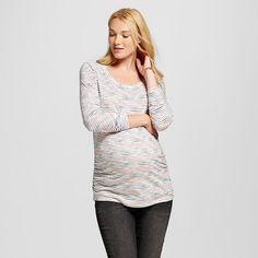 c95608934 Maternity Multi Stripe Long Sleeve Scoop Tee - Liz Lange® for Target    Target Tunic