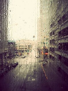 love the rain on a window !