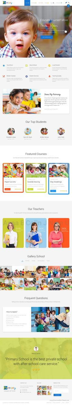 PRIMARY is a perfect WordPress #Theme crafted for professional child care centers, #preschool and #kindergartens stunning #website. Download Now!