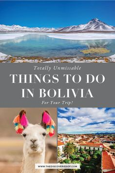 The best things to do in Bolivia. Don't miss out on these fabulous Bolivia travel hotspots - including the Bolivia Salt Flats, La Paz, Sucre, Copacabana, Lake Titicaca and more bolivia traveldestinations travel 586945763922212210 Backpacking South America, South America Travel, New York Tourist, Bolivia Salt Flats, Lac Titicaca, South America Destinations, Travel Destinations, Holiday Destinations, Bolivia Travel