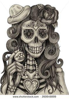 dia de los muertos drawings - Google Search