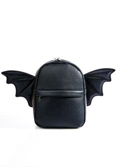 it'z ok batty bb, we got ur back. This crazy mini backpack features a pebbled vegan leather construction and removable zi… White Backpack, Mini Backpack, Backpack Bags, Faux Leather Backpack, Leather Backpacks, Leather Bags, Punk Rock Outfits, Convertible Backpack, Zipper Bags