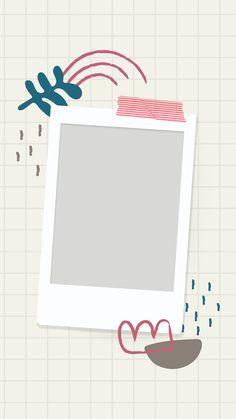 Birthday Captions Instagram, Birthday Post Instagram, Happy Birthday Template, Happy Birthday Posters, Instagram Frame Template, Polaroid Frame, Powerpoint Background Design, Photo Collage Template, Birthday Posts