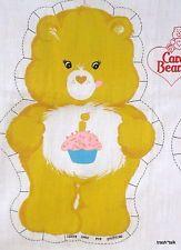 Vtg 80s Carebears fabric panel doll pillow Cut n Sew CHOOSE Wish Grumpy Bear