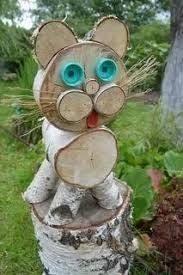 Birkenrinde: 76 Tausend Bilder in Yandex gefunden. Wood Log Crafts, Wood Slice Crafts, Christmas Decorations To Make, Christmas Crafts, Christmas Ideas, Wood Animal, Wood Logs, Wood Creations, Handmade Books