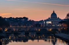 Sunset in Rome!!! by kostastsek44 #travel #traveling #vacation #visiting #trip #holiday #tourism #tourist #photooftheday #amazing #picoftheday