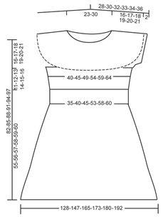 """Gebreide DROPS jurk met zijdelings gebreide rok met strepen, gebreid met verkorte toeren en gebreide bovenkant in tricotst met ronde pas van """"Fabel"""". Maat: S - XXXL ~ DROPS Design"""