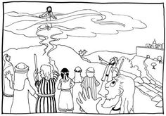 jesus' ascension into heaven coloring pages - Google Search
