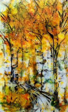 "Daily Paintworks - ""Fall Fire"" - Original Fine Art for Sale - © Kristen Dukat"