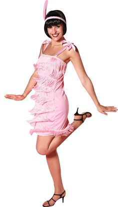 Disfraz años 20 rosa claro mujer Disponible en http://www.vegaoo.es/disfraz-anos-20-rosa-claro-mujer.html?type=product