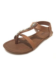 5f91c08d665452 Love this Brown Tribal Rhinestone Gladiator Sandal by OLIVIA MILLER on   zulily!  zulilyfinds