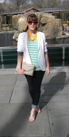 Acid Yellow Necklace and Stripes