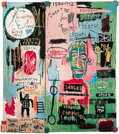 A Jean-Michel Basquiat exhibition, presented by The Brant Foundation, celebrates the opening of its second space in New York City. Jean Basquiat, Jean Michel Basquiat Art, Michael Lang, Basquiat Paintings, Basquiat Prints, Basquiat Artist, Graffiti, Blog Art, Logos Retro