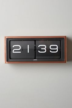 Retro Wall Clock - anthropologie.com