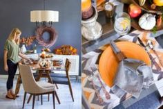 For the Perfect Host: Gorgeous Fall-Inspired Dining Room Ideas Corner Drawers, Farmhouse Style Kitchen, Autumn Inspiration, Kitchen Styling, Interiores Design, Modern Rustic, Scandinavian Design, New Homes, Dining Room
