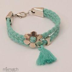 Daisy-t Cord Bracelets, Spring Summer 2015, Turquoise Bracelet, Daisy, Jewelry, Fashion, Diy Kid Jewelry, Accessories, Moda