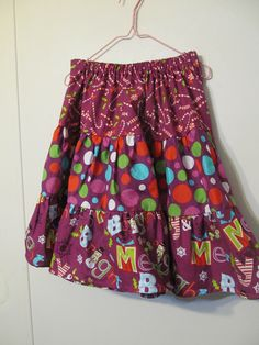 Girl's Twirly Skirt Handmade tiered skirt by creationsbyjessi,