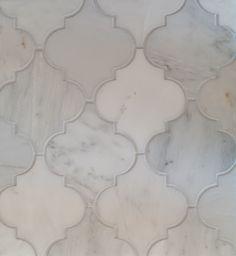 Arabesque Tile  Oriental White Marble Honed. For the city house kitchen backsplash!  I love this!