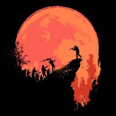 zombie horde silhouette - Google Search